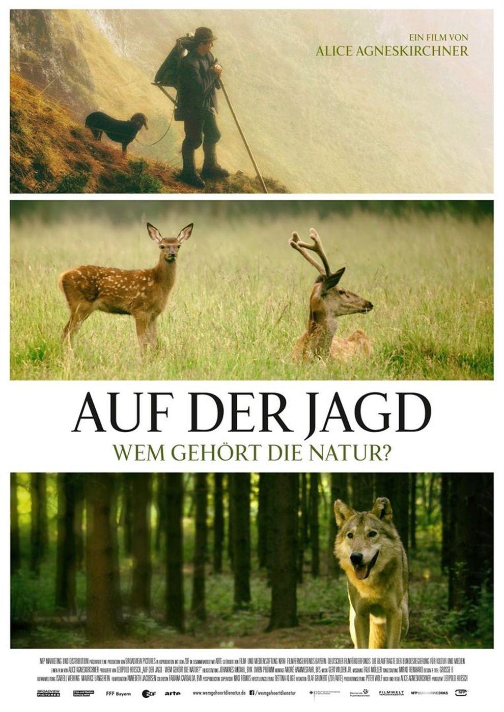 Plakat Auf der Jagd