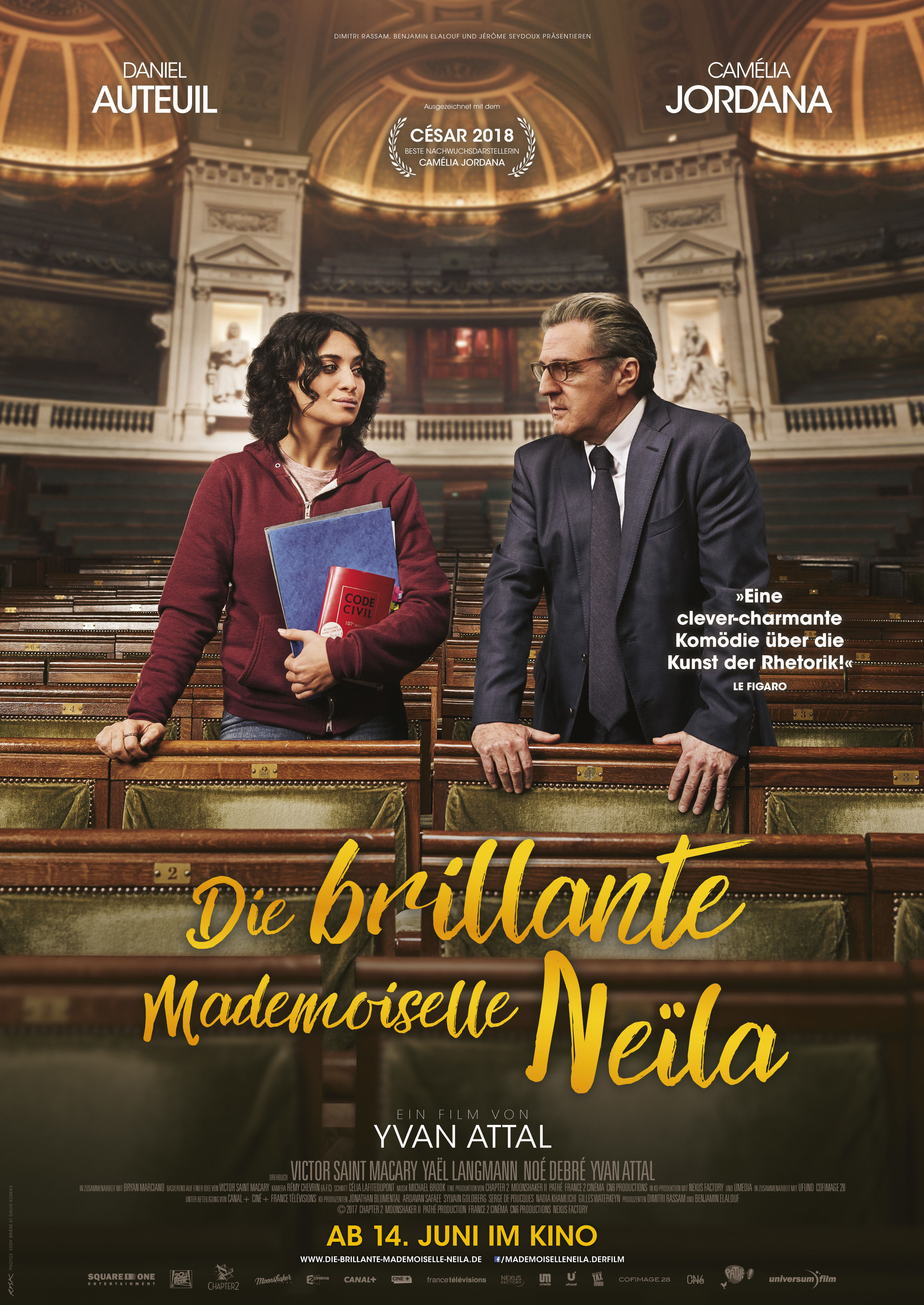 Plakat Die brillante Mademoiselle Neila