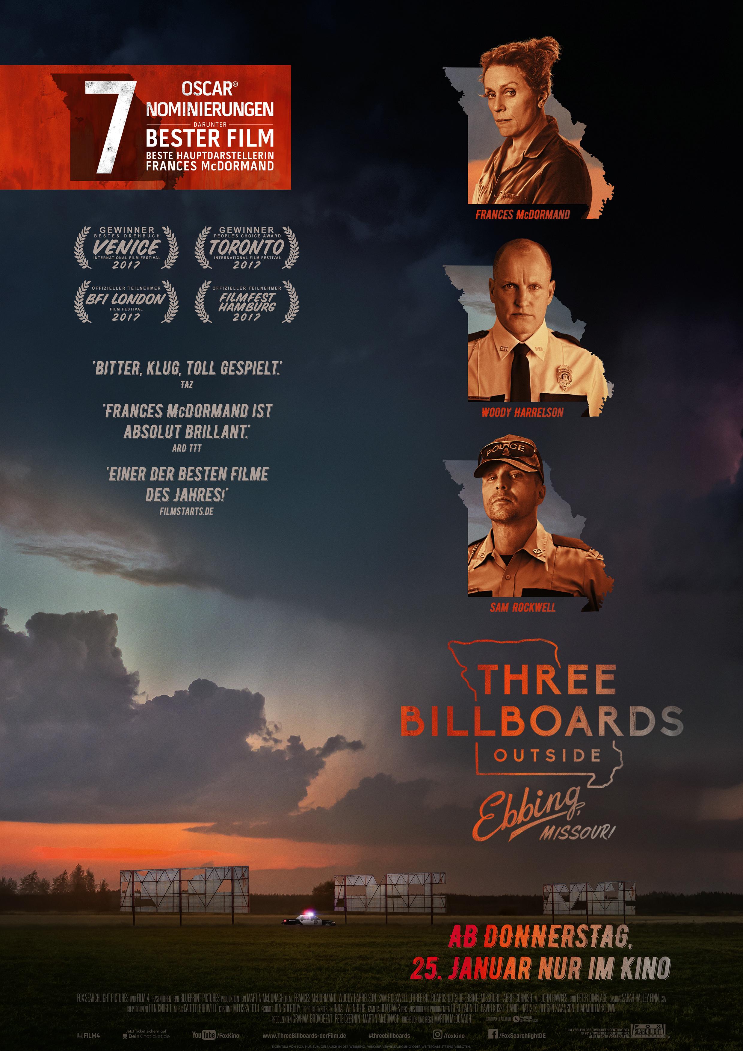 Plakat Three Billboards