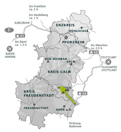 Lageplan Gewerbegebiete in der Region