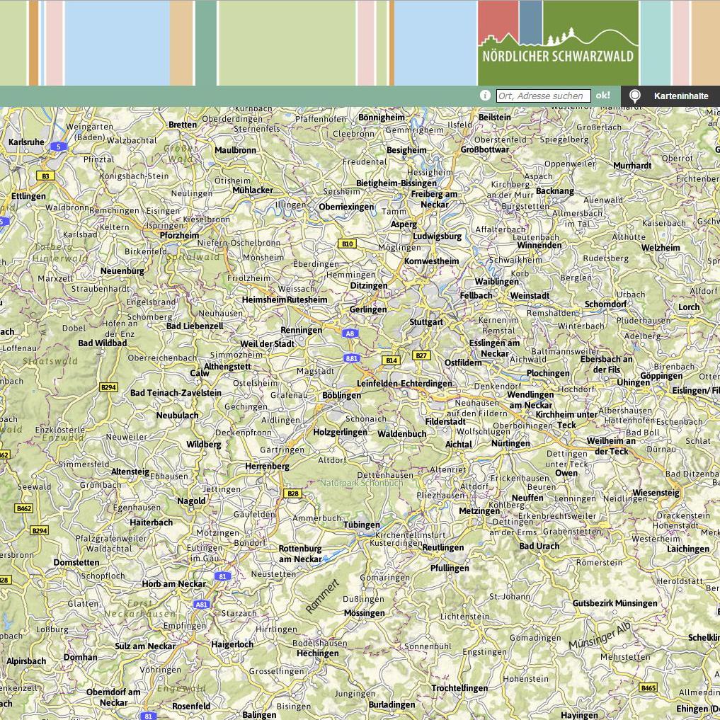 Radtouren Karte Routenplaner Alpregio