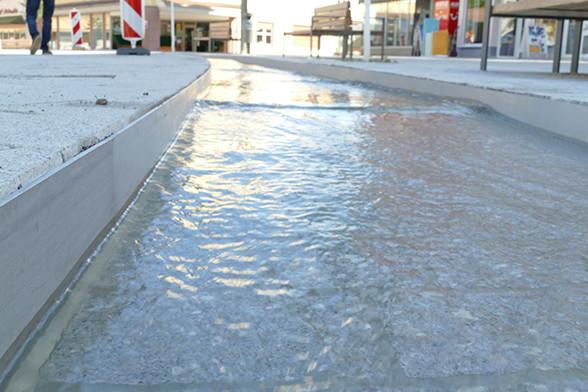 Wasserlauf in Betrieb