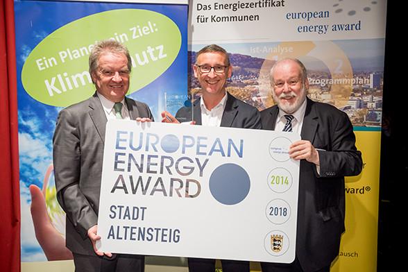 Verleihung des European Energy Awards am Montag, den 18. Februar 2019 in der Universitätsstadt Tübingen.Im Bild: Stadt Altensteig