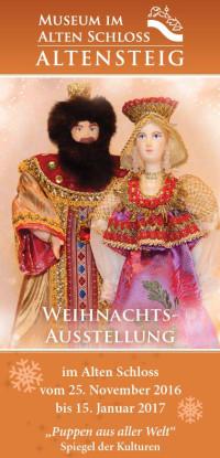 Flyer zur Weihnachtsausstellung in Altensteig 2016